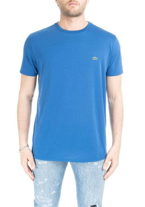 T-SHIRT BLU IN COTONE PIMA ULTRA LEGGERO Lacoste | T-shirt | TH6709Z7Z
