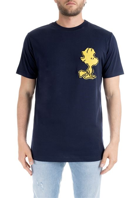 BLUE T-SHIRT WITH WOODSTOCK EMBROIDERY LC23 | T-shirt | T-SHIRTBLU