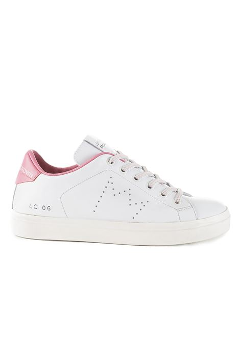 PINK AND WHITE LC06 SNEAKERS LEATHER CROWN |  | WLC06306