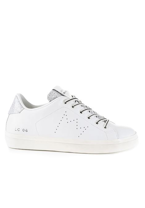 SNEAKERS LC06 WHITE AND SILVER GLITTER LEATHER CROWN |  | WLC06333