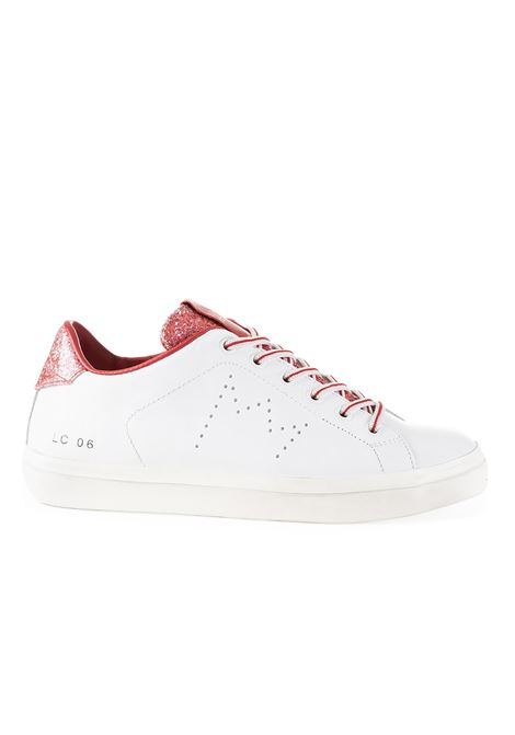 SNEAKERS LC06 WHITE AND RED GLITTER LEATHER CROWN |  | WLC06336
