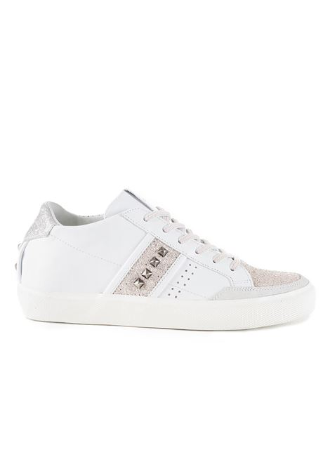 WHITE 'LC STUDS SNEAKERS LEATHER CROWN |  | WLC178305