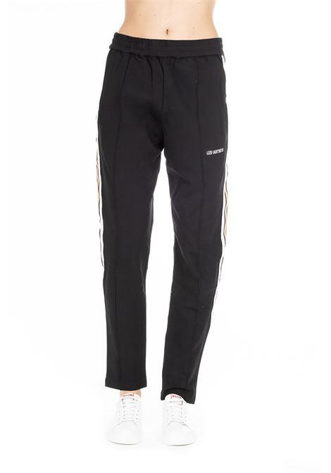 BLACK SUIT PANTS WITH CONTRAST SIDE BAND LES ARTISTS   Track Pants   LA08PNT0151NERO