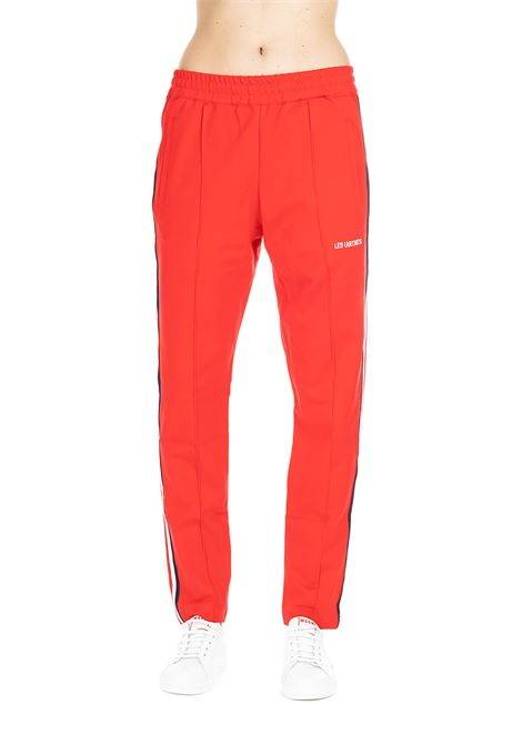 RED SUIT PANTS WITH CONTRAST SIDE BAND LES ARTISTS | Pants | LA08PNT0151ROSSO
