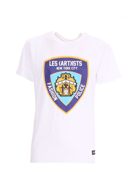 T-SHIRT CON STAMPA FRONTALE LES ARTISTS | T-shirt | LA08TEE142WHITE