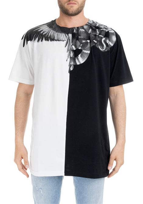 WINGS AND SNAKES BICOLOR T-SHIRT MARCELO BURLON | T-shirt | CMAA018R190010201091