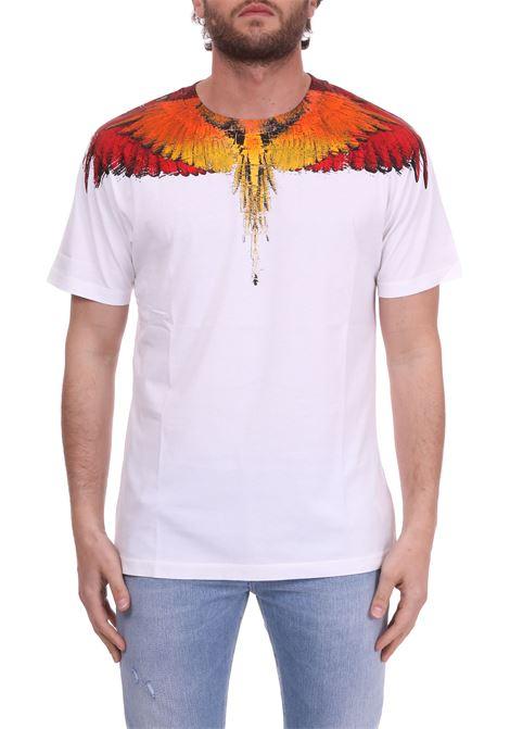 WHITE 'WINGS' T-SHIRT MARCELO BURLON   T-shirt   CMAA018S190010230188