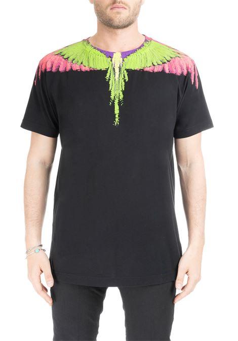 BLACK FLUO WINGS T-SHIRT MARCELO BURLON   T-shirt   CMAA018S190010251088