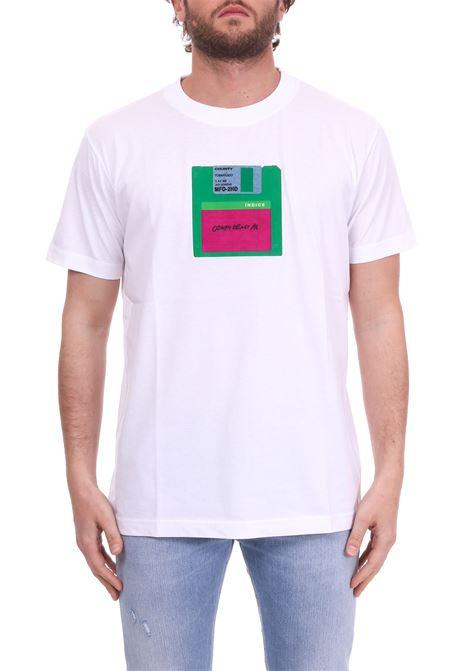 WHITE 'FLOPPY' T-SHIRT MARCELO BURLON | T-shirt | CMAA018S190010440188