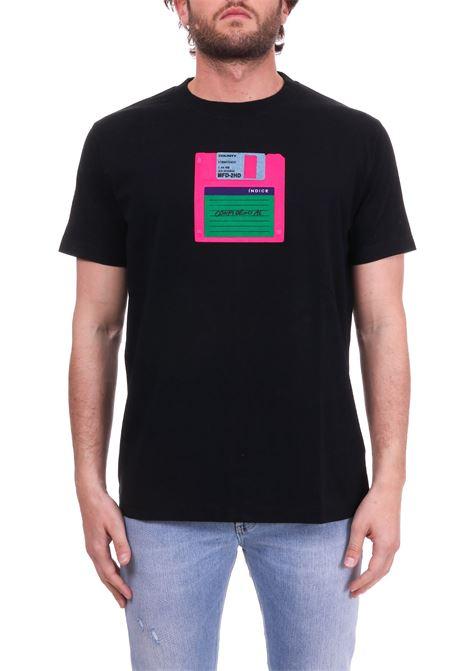 T-SHIRT 'FLOPPY' NERA MARCELO BURLON | T-shirt | CMAA018S190010441088