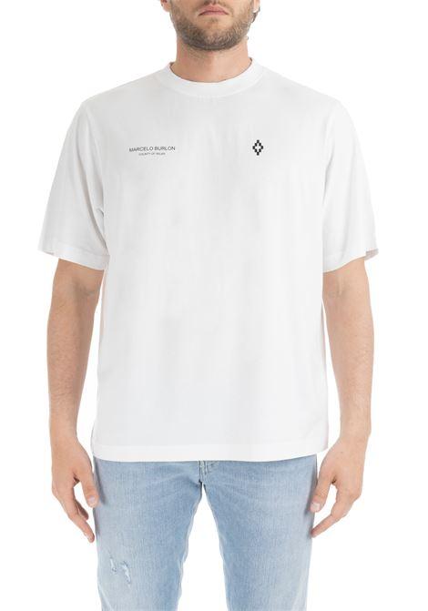 WHITE PUNCH T-SHIRT MARCELO BURLON | T-shirt | CMAA054R190011410193