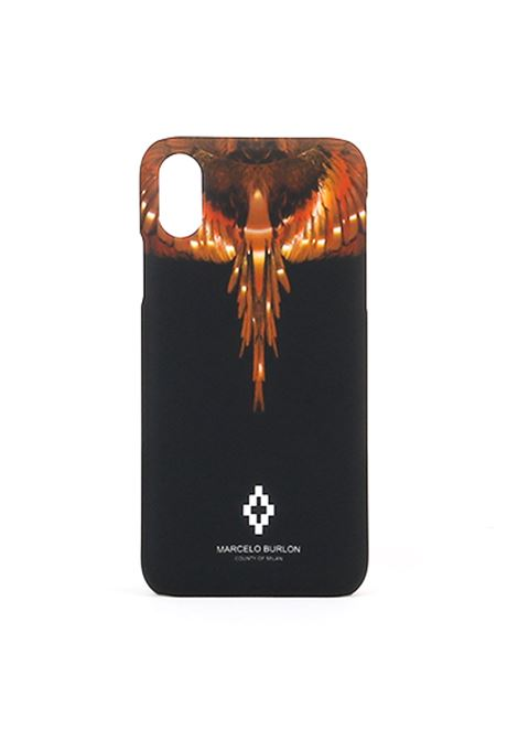 WINGS X CASE BLACK GOLD MARCELO BURLON | Cover | CMPA007R190080881093