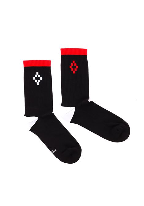 CROSS BICOLOR SHORTS SOCKS  MARCELO BURLON | Socks | CMRA003R190961541088