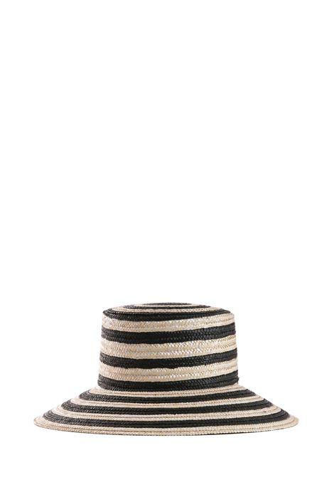 CAPPELLO IN PAGLIA A RIGHE MAX MARA'S | Cappelli | ARTUR95710292600001