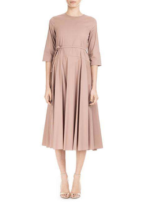PINK LONGUETTE DRESS IN COTTON POPLIN MAX MARA'S | Dress | VOGHERA92212492600029