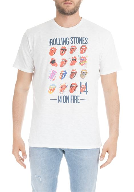 T-SHIRT BIANCA CON STAMPA THE ROLLING STONES MC2SAINTBARTH | T-shirt | FLAMEDGARMENTBIANCO
