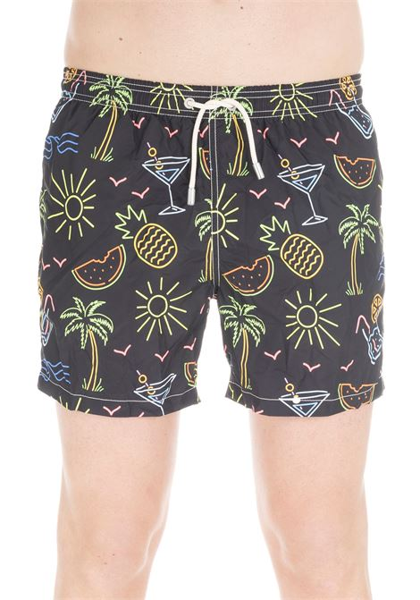 FLUO DRINK PRINT FLUO LIGHT FABRIC SWIM SHORT