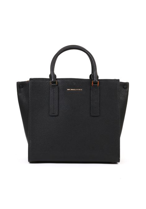 BIG BLACK ALESSA BAG IN PEBBLED LEATHER MICHAEL DI MICHAEL KORS | Bag | 30S9G0AS3TALESSA001