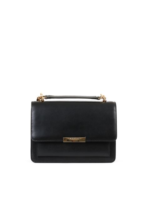 BLACK LEATHER  BAG WITH SHOULDER CHAIN MICHAEL DI MICHAEL KORS | Bag | 30S9GJ4L9LLGGUSSETSHLDR001