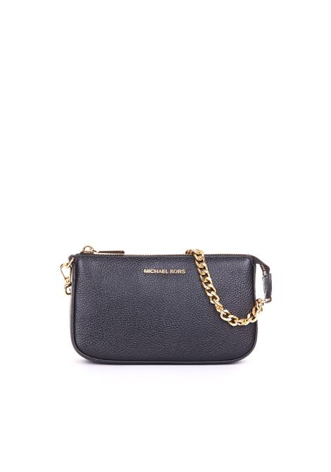 BLACK  JET SET CHAIN CLUTCH MICHAEL DI MICHAEL KORS | Clutches | 32F7GFDW6LPOUCHESANDCLUTCHES001