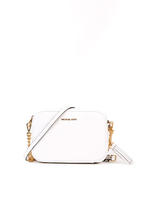 MEDIUM OPTIC WHITE GINNY SHOULDER BAG MICHAEL DI MICHAEL KORS | Bag | 32F7GGNM8LCROSSBODIES085