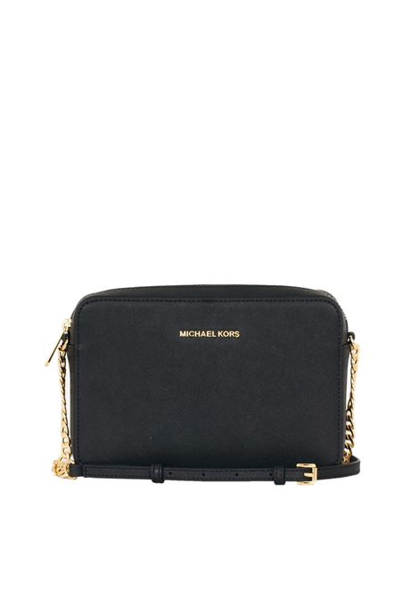 BLACK JET SET TRAVEL BAG IN SAFFIANO LEATHER MICHAEL DI MICHAEL KORS | Bag | 32S4GTVC3LCROSSBODIES001