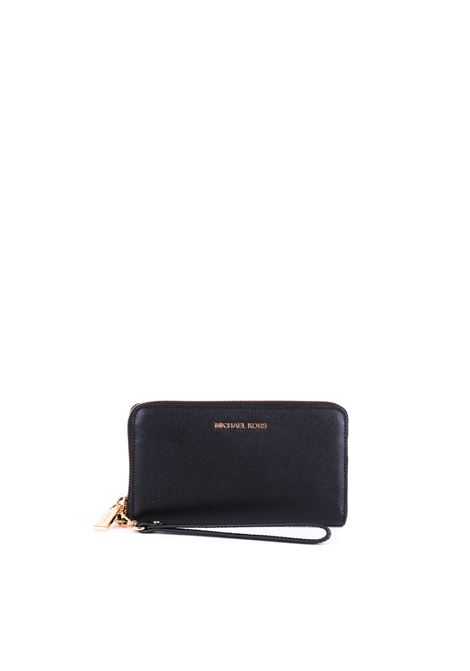 LEATHER WALLET MICHAEL DI MICHAEL KORS | Wallets | 32T4GTVE3LWRISTLETS001