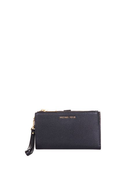 BLACK WRISTLET PEBBLED LEATHER CLUTCH  MICHAEL DI MICHAEL KORS | Clutch | 32T7GAFW4LWRISTLETS001