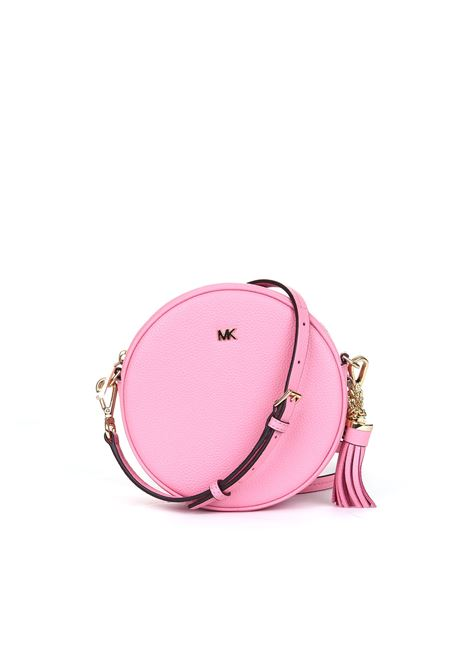 PEBBLED LEATHER SHOULDER BAG - PINK MICHAEL DI MICHAEL KORS | Bag | 32T8TF5N3L611