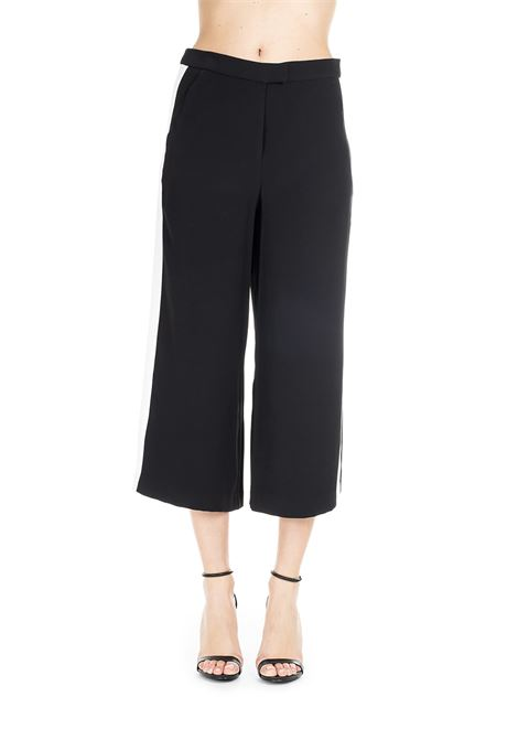 BLACK LONG PANTS WITH WHITE STRIPE MICHAEL DI MICHAEL KORS | Pants | MF83GKL6BZ048