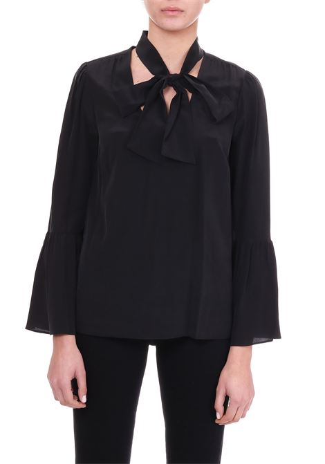SILK SHIRT WITH BOW MICHAEL DI MICHAEL KORS | Shirts | MF84LLL96K001
