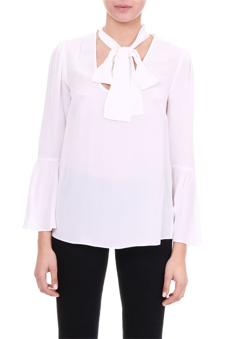 SILK SHIRT WITH BOW MICHAEL DI MICHAEL KORS | Shirts | MF84LLL96K100