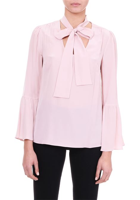 SILK SHIRT WITH BOW MICHAEL DI MICHAEL KORS | Shirts | MF84LLL96K696