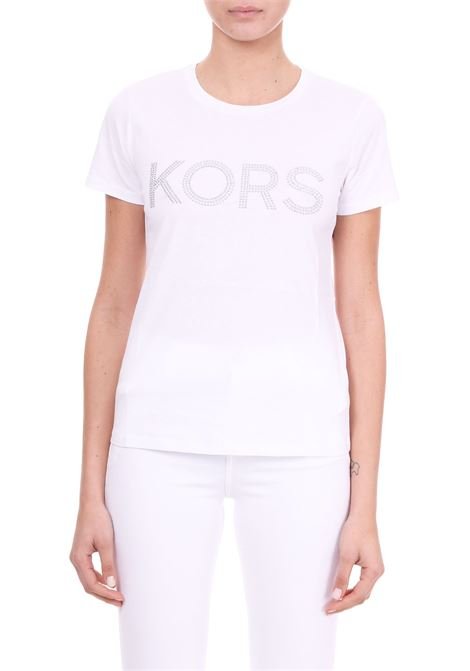 COTTON T-SHIRT WITH STUDS MICHAEL DI MICHAEL KORS | T-shirt | MH85M2Y97J100