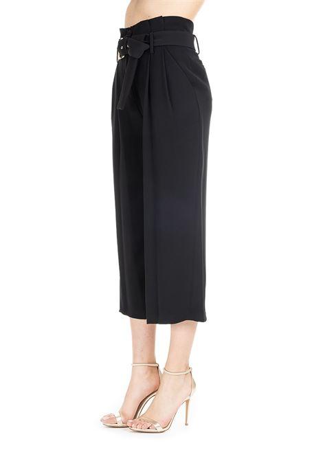 BLACK CROPPED PANTS WITH BELT MICHAEL DI MICHAEL KORS | Pants | MS93H3U6BZ001