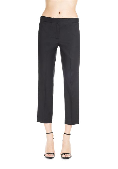 BLACK PANTS WITH WHITE CONTRAST LATERAL BAND MICHAEL DI MICHAEL KORS | Pants | MS93H42C64001