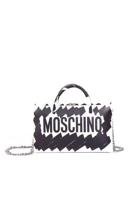 CLUTCH WITH BRUSHSTROKE PRINT MOSCHINO | Bags | A752980019555
