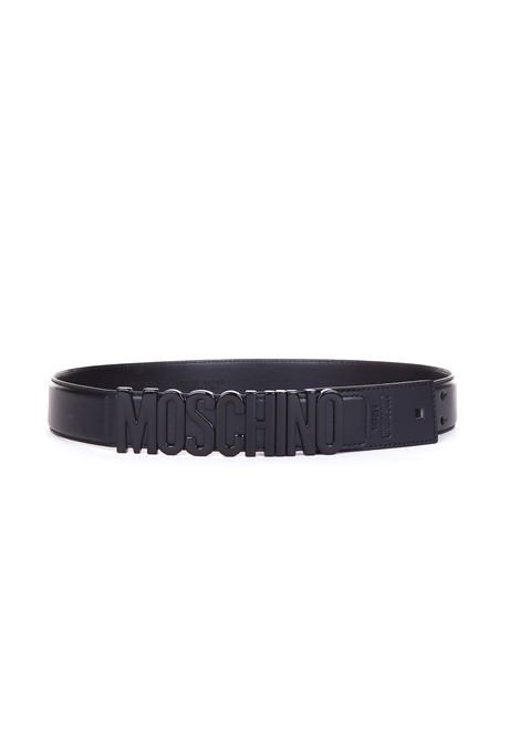 BLACK LETTERING LEATHER BELT MOSCHINO | Belts | A8065/80017555