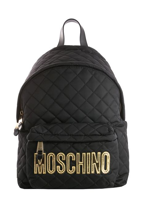 BLACK NYLON BACKPACK MOSCHINO | Backpacks | B760782012555