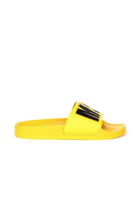 YELLOW SANDALS WITH LOGO BAND MSGM | Slide Sandals | 2641MDS1510030006