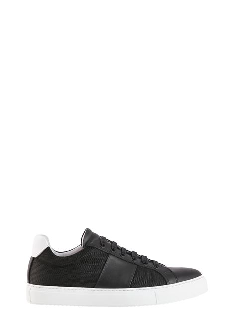 SNEAKER NERA IN MESH E PELLE NATIONALSTANDARD | Sneakers | M0419S097
