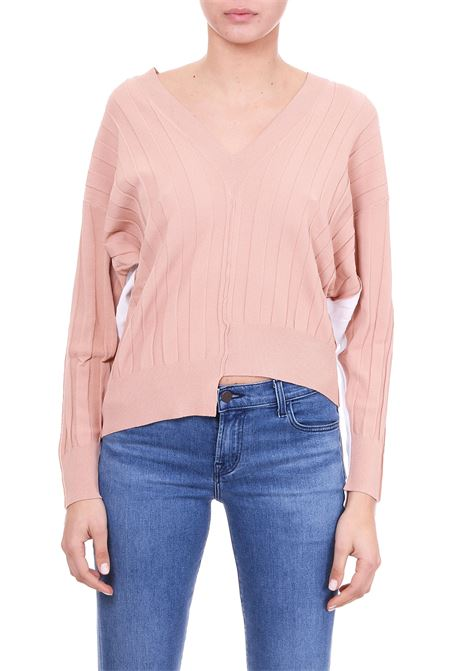 RIBBED BICOLOR SWEATER  Nude | Sweaters | 1101501134