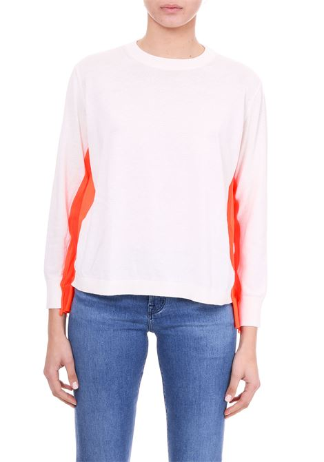 WHITE SWEATER WITH FLUO STRIPES Nude | Sweaters | 110151201