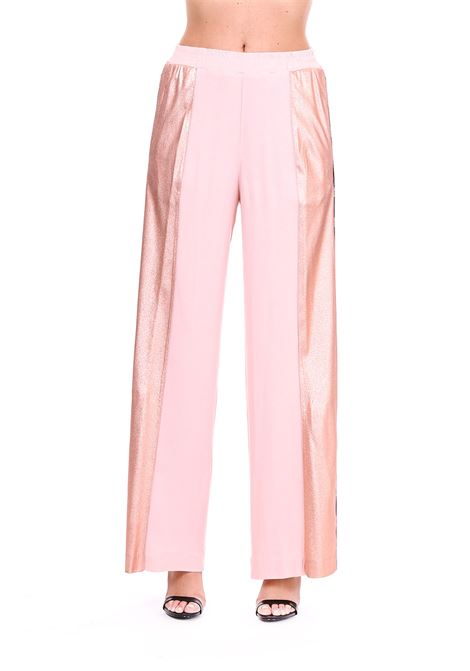 TROUSERS WITH LAMINATED BANDS Nude | Pants | 1103504134