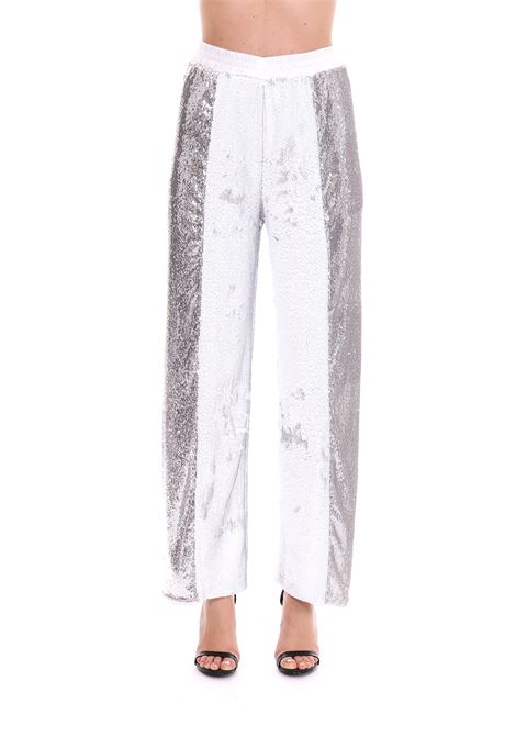 TROUSERS WITH SEQUINS AND SIDE BANDS Nude   Pants   1103521136