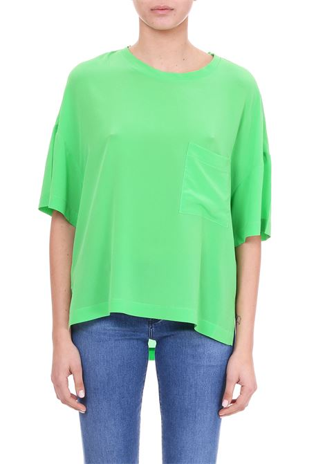 T-SHIRT GREEN APPLE IN SETA Nude | T-shirt | 1103599133