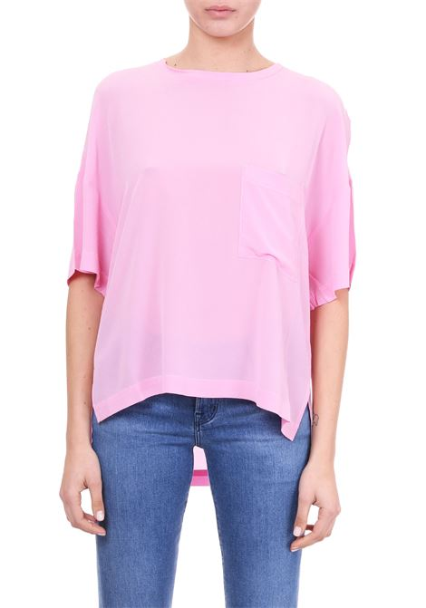 T-SHIRT PINK IN SETA Nude | T-shirt | 110359988