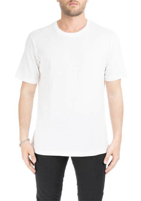 WHITE BASIC T-SHIRT IN PURE COTTON PAOLO PECORA | T-shirt | F30141691101