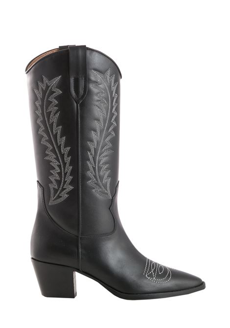 BLACK BOOTS EMBROIDERED IN WESTERN STYLE PARIS TEXAS |  | PX143NERO