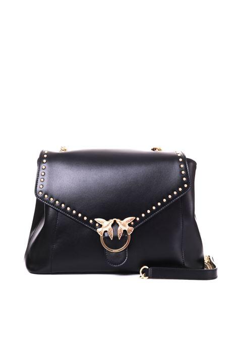TOP HANDLE SIMPLY BAG IN BLACK LEATHER PINKO | Bags | ABBONDANZA1P21B4Y5EUZ99